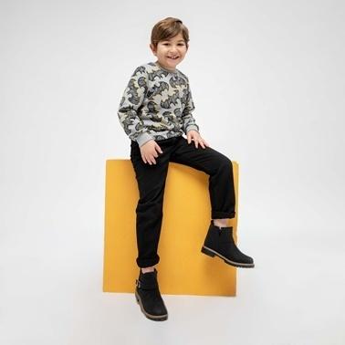 Yellow Kids Bot Siyah